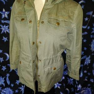 Full Tilt Jackets & Coats - Army green hooded jacket Girl's Xl fulltilt